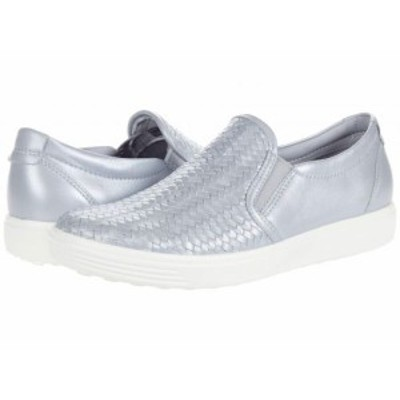 ECCO エコー レディース 女性用 シューズ 靴 スニーカー 運動靴 Soft 7 Woven Slip-On II Silver Grey Metallic【送料無料】