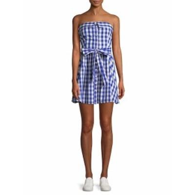 ファースト サイト レディース ワンピース Smocked Plaid Dress