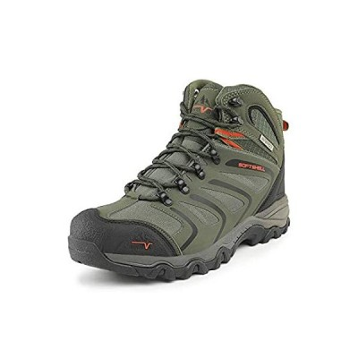 NORTIV 8 Men's 160448_M Olive Green Black Orange Ankle High Waterproof Hiki 好評販売中