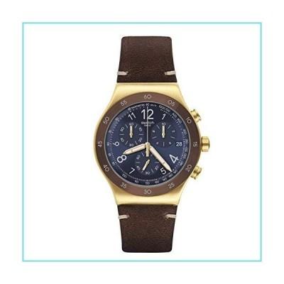 Swatch st. Steel Quartz Leather Strap, Brown, 21 Casual Watch (Model: YVG408)【並行輸入品】