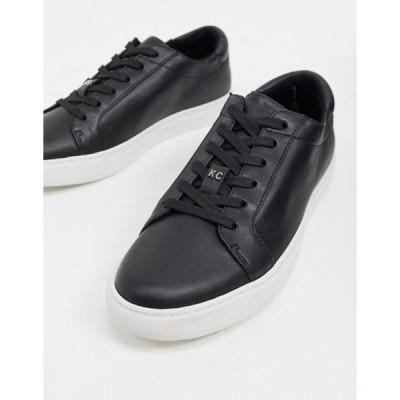 ケネスコール メンズ スニーカー シューズ Kenneth Cole kam lace up sneakers in black leather