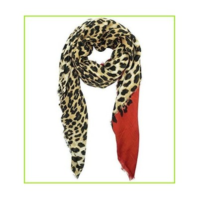 Blue Pacific Animal Print Cashmere and Silk Scarf in Rust Red and Tan【並行輸入品】