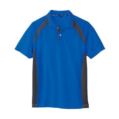 コーコス(CO-COS) ワークウェア 半袖ポロシャツ ブルー AS-1627 BL 4L-5L 作業着 作業服 ワークウェア DIY ワーキングシャツ