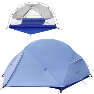 Soomloom 青空2 アウトドアキャンピングテント ドーム型 2人用 二重層 自立式 超軽量 防風防水 日除け PU2000以上 専用グランドシー