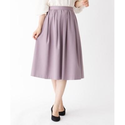 SOUP / 【大きいサイズあり・15号~21号】タックウールギャザースカート WOMEN スカート > スカート