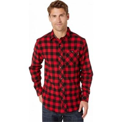ティンバーランド Timberland PRO メンズ シャツ ネルシャツ トップス Woodfort Mid-Weight Flannel Work Shirt Classic Red Buffalo Check