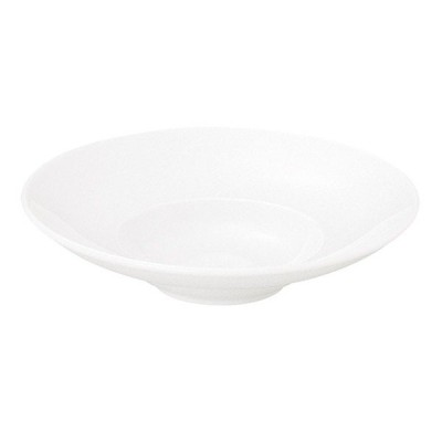 パスタ皿 スープ皿 24.5cmワイドリムボウル 白マーレ 洋食器 おしゃれ 業務用 美濃焼