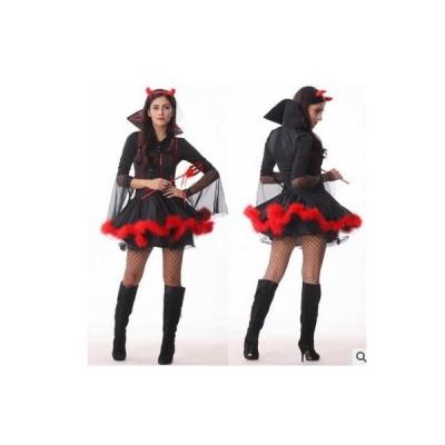 コスプレ ハロウィン 衣装 魔女 デビルパーツセット | コスチューム 大人用 仮装 ウィッチ 小悪魔 コスプレ衣装 悪魔 文化祭 魔法使い 女性用 バンパイア ヴァン