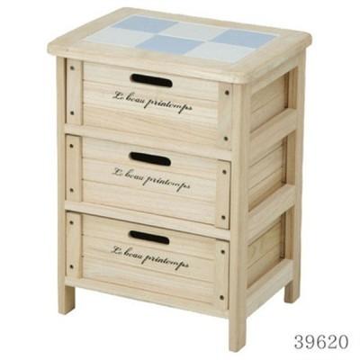 桐製マルチストッカー2 木製3段ボックス HF05-002(N) 2 (39620)