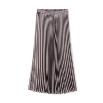 (NATURAL BEAUTY BASIC/ナチュラルビューティーベーシック)[洗える]シアープリーツスカート/レディース グレー