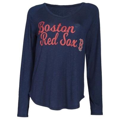 コンセプツ スポーツ レディース Tシャツ トップス Boston Red Sox Concepts Sport Women's Composure Long Sleeve Top