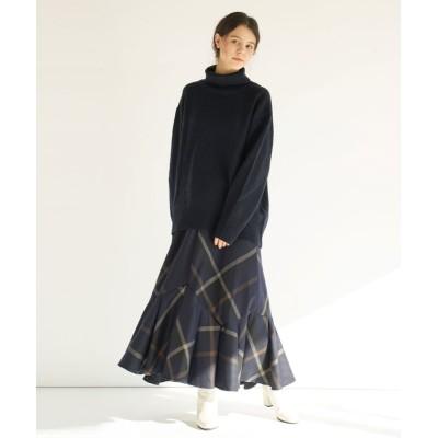 (FIKA./フィーカ)FIKA. High neck Sweater/レディース ネイビー