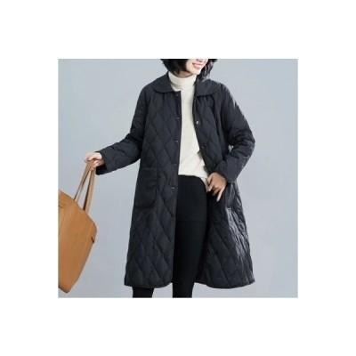 レディース 中綿コート ロングコート 冬服 綿入れ 防寒着 暖かい 薄手 軽量 カジュアル オシャレ アウター ゆったり きれいめ 大きいサイズ ファー 長袖 通勤