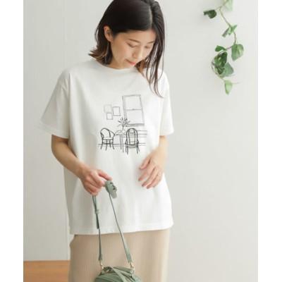 コットンプリント半袖Tシャツ