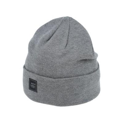 BARTS 帽子 グレー one size アクリル 55% / コットン 45% 帽子