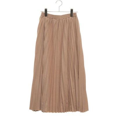 スタイルブロック STYLEBLOCK ラメポンチプリーツスカート (ベージュ)