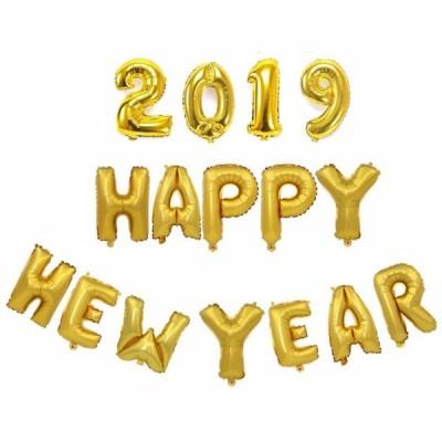 16インチの新年の家の装飾のための2019の幸せな新年の手紙バルーンアルミ箔のバルーンセット