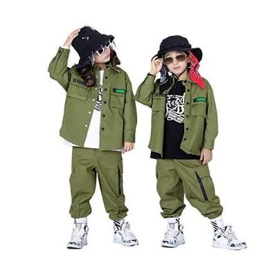 韓国 キッズダンス衣装 セットアップ 男の子 女の子 ダンス 衣装 ヒップホップ キッズ ダンス衣装 上下 トップ?