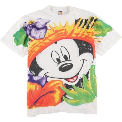 ミッキーマウス キャラクタープリントTシャツ USA製 /wbj0778