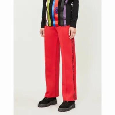 ケンゾー その他ボトムス・パンツ relaxed-fit logo-trim jersey jogging bottoms Medium red