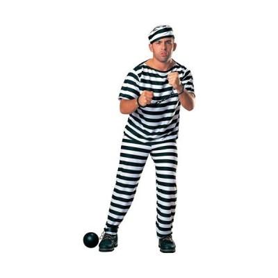 囚人 ハロウィン 大人 男性用 シマシマ コスチューム コスプレ パーティー 縞 刑務所 牢屋 受刑者