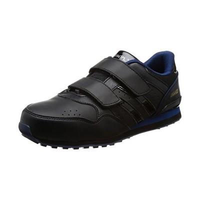 [シモン] プロスニーカー 短靴 JSAA規格 NS818 黒/ブルー 27.0 cm 3E