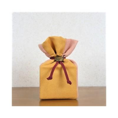 骨袋 骨壺カバー ペット モダン スエード調 オレンジツートン 2.0寸用 S