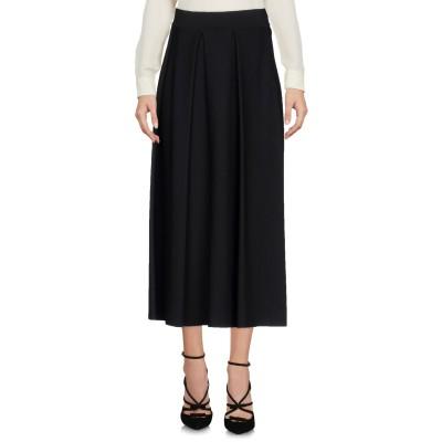 ジェントリーポルトフィーノ GENTRYPORTOFINO 7分丈スカート ブラック 40 レーヨン 83% / ポリエステル 17% 7分丈スカート