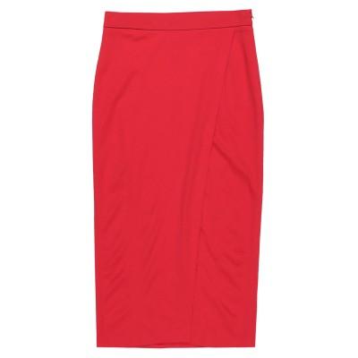 メルシー ..,MERCI 7分丈スカート レッド 40 レーヨン 63% / ナイロン 32% / ポリウレタン 5% 7分丈スカート