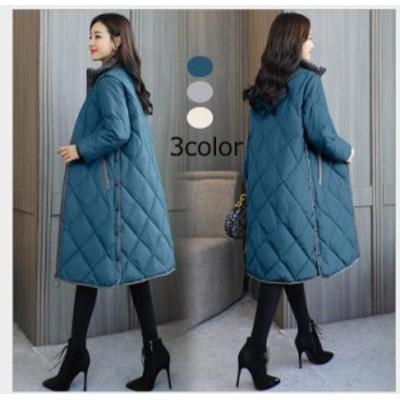 中綿ジャケット ロング丈ジャケット ダウンコート ダウンジャケット レディースアウター 大きいサイズ 暖かい 防風防寒 大きいサイズ カ