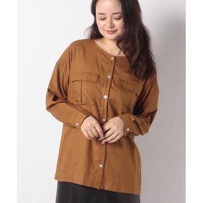 (Te chichi/テチチ)【Lugnoncure】カルゼノーカラーシャツ LS/レディース ブラウン
