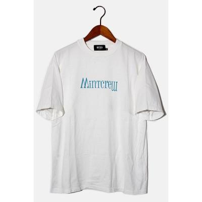 【中古】2020SS MintCrew ミントクルー LOGO TEE プリント半袖Tシャツ M WHITE ホワイト /● メンズ 【ベクトル 古着】