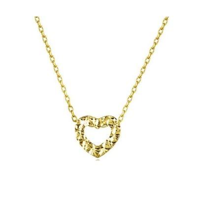 FANCIME K14イエローゴールド ハート ネックレス レディース ギフトラッピング済み ダイヤモンド カット 誕生 母の日プレゼント