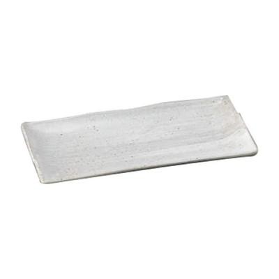 さんま皿 和食器 / 刷毛粉引長角皿 寸法:24.5 x 12 x 2.2cm