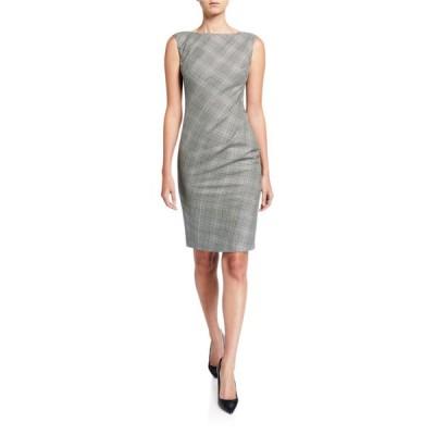 ラファイエットワンフォーエイト レディース ワンピース トップス Della Houndstooth Plaid Sleeveless Sheath Dress
