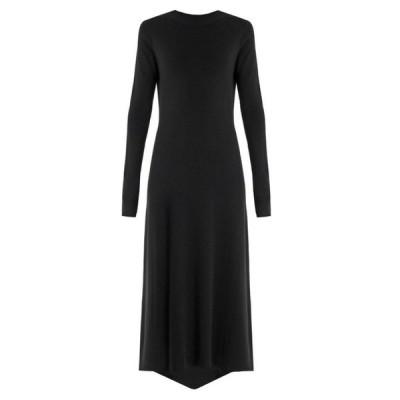 レイ Raey レディース ワンピース ワンピース・ドレス Fishtail ribbed cashmere dress Black
