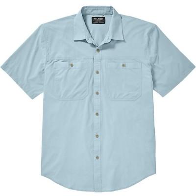 フィルソン シャツ メンズ トップス Filson Men's Alagnak SS Shirt Gulf Blue