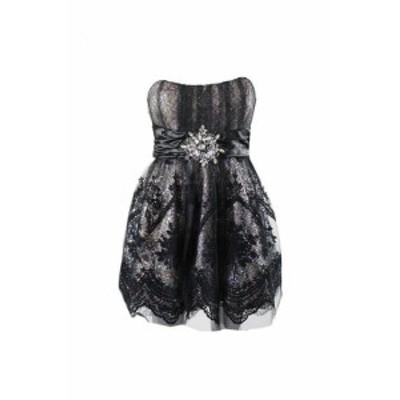 Sequin  ファッション ドレス Jax Black Strapless Sequin Mesh Party Dress 2
