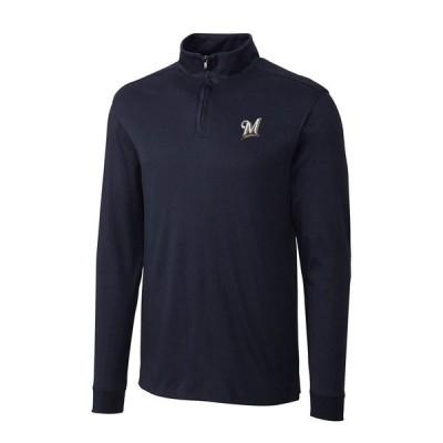 ミルウォーキー・ブルワーズ Cutter & Buck Belfair Half-Zip Pullover ジャケット - Navy
