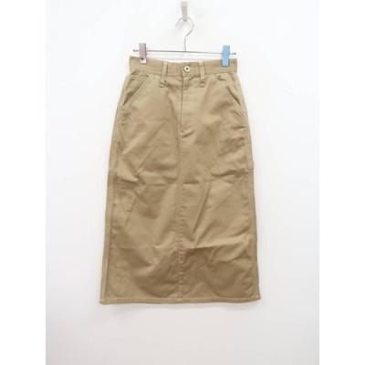 UNIVERSAL OVERALL(ユニバーサルオーバーオール)ポケットデザインチノスカート ベージュ レディース A-ランク S [委託倉庫から出荷]