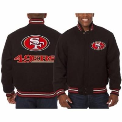 JH Design ジェイエイチ デザイン アウターウェア ジャケット/アウター JH Design San Francisco 49ers Black