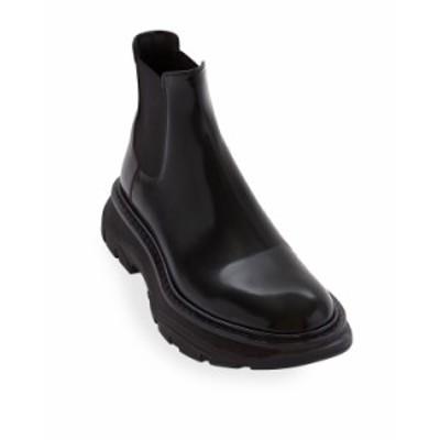 アレキサンダー・マックイーン レディース ブーツ・レインブーツ シューズ Chunky Pull-On Ankle Booties BLACK