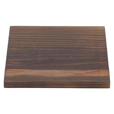 和食器 敷板 / (木)12cm焼杉敷板 寸法: 12 x 12 x 1.1cm