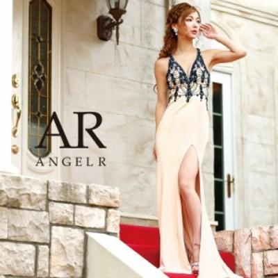 Angel R エンジェルアール ドレス キャバ ドレス キャバドレス エンジェル アール ドレス 深Vカットビジュータイトロングドレス タイト
