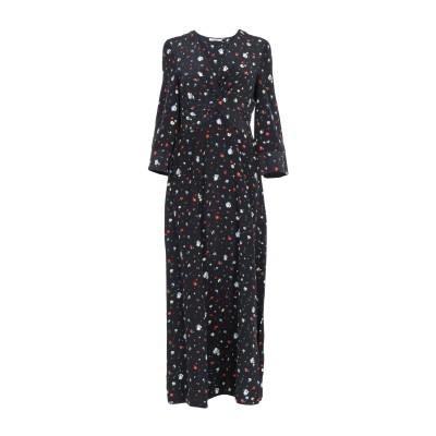 ガニー GANNI ロングワンピース&ドレス ブラック 34 シルク 100% ロングワンピース&ドレス