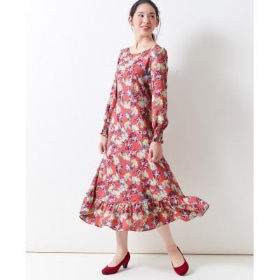 大きいサイズ 花柄ワンピース(MIIA) ,スマイルランド, ワンピース, plus size dress