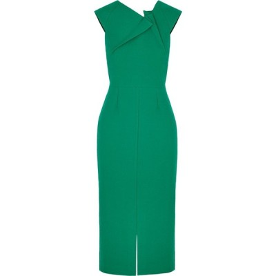 ローラン ムレ Roland Mouret レディース パーティードレス ミドル丈 ワンピース・ドレス tikal green midi dress Green