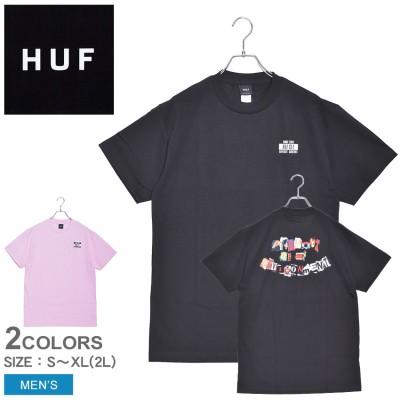 ハフ HUF 半袖Tシャツ PRODUCT S/S TEE TS01013 メンズ tシャツ トップス 半袖 スポーツ 人気 おしゃれ プリント アート  ロゴ ブラック 黒 ピンク