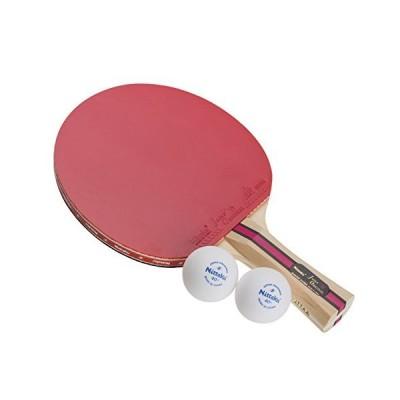 ニッタク(Nittaku) 卓球 ラケット シェークハンド ボール2個つき レジャー 遊び 公式試合使用可 【ラバー張上げ済