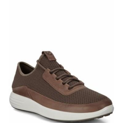 エコー メンズ ドレスシューズ シューズ Men's Soft 7 Lace-Up Runner Summer Sneaker Dark Clay/Dark Clay